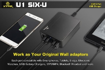 USB Charger адаптер Xtar U1 SIX-U