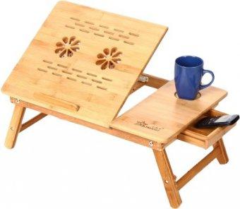 столик складной для ноутбука из бамбука