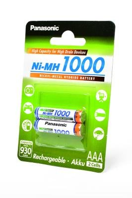 Аккумуляторы Panasonic BK-4HGAE/2BE 1000mAh, ААА, 2 шт.