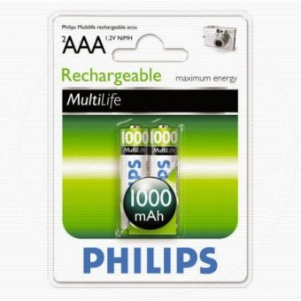 Аккумуляторы PHILIPS HR03 1000mAh, ААА, 2 шт.