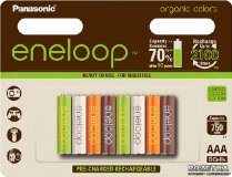Аккумуляторы ААА Еneloop Panasonic BK-4MCCE/8RE COLORS 750mAh AAA BL8